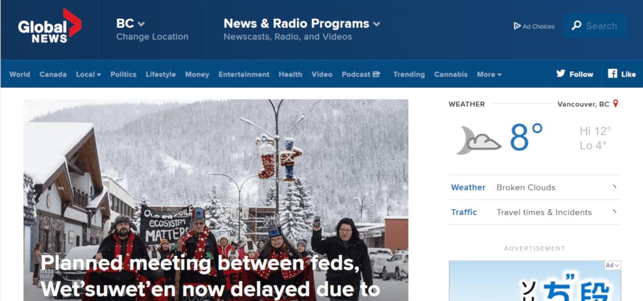 Global Newsの公式サイトTOP