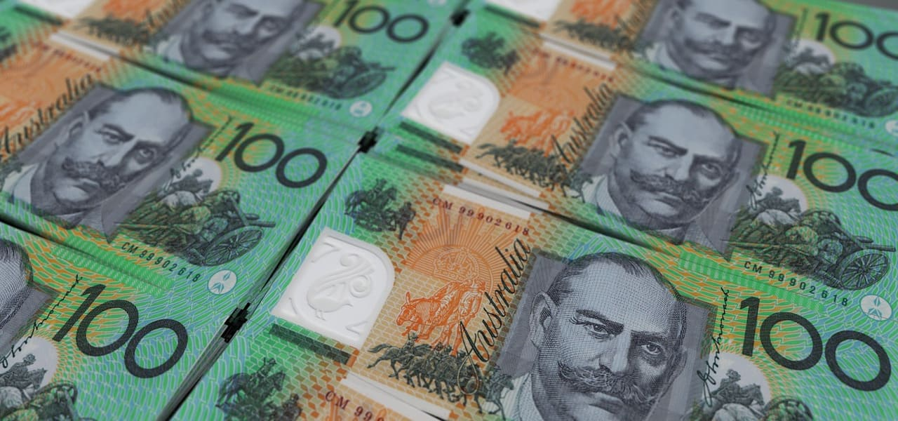 オーストラリアのドルの束