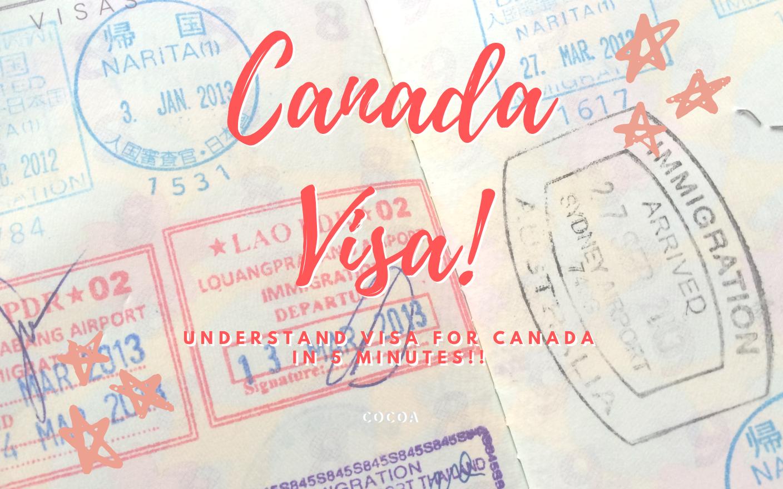 カナダのビザを5分で理解する!のイメージ