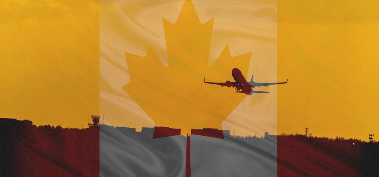 観光ビザでカナダを訪れる様子