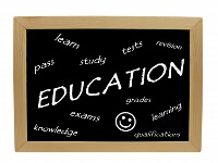 語学学校の黒板のイメージ