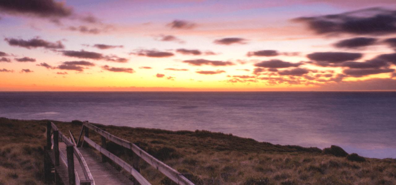 オーストラリアの夕焼けの海