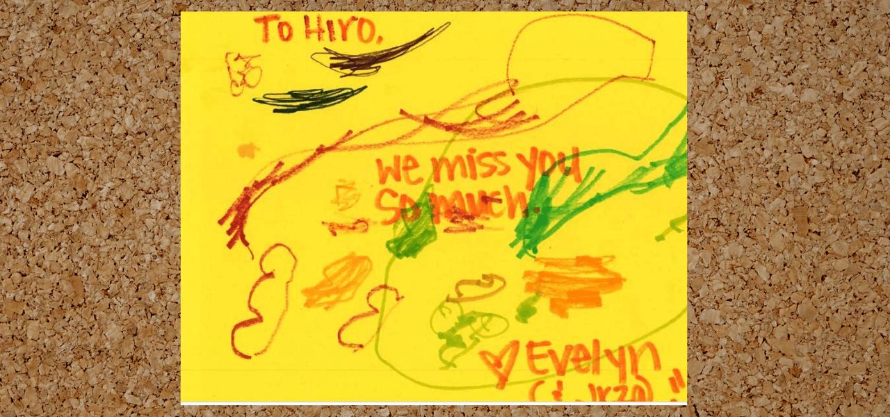 Evelynからのメッセージカード