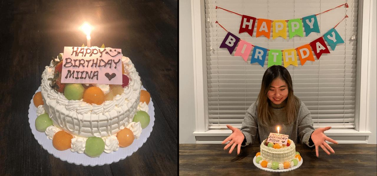 みーなちゃんバースデーとお誕生日ケーキ