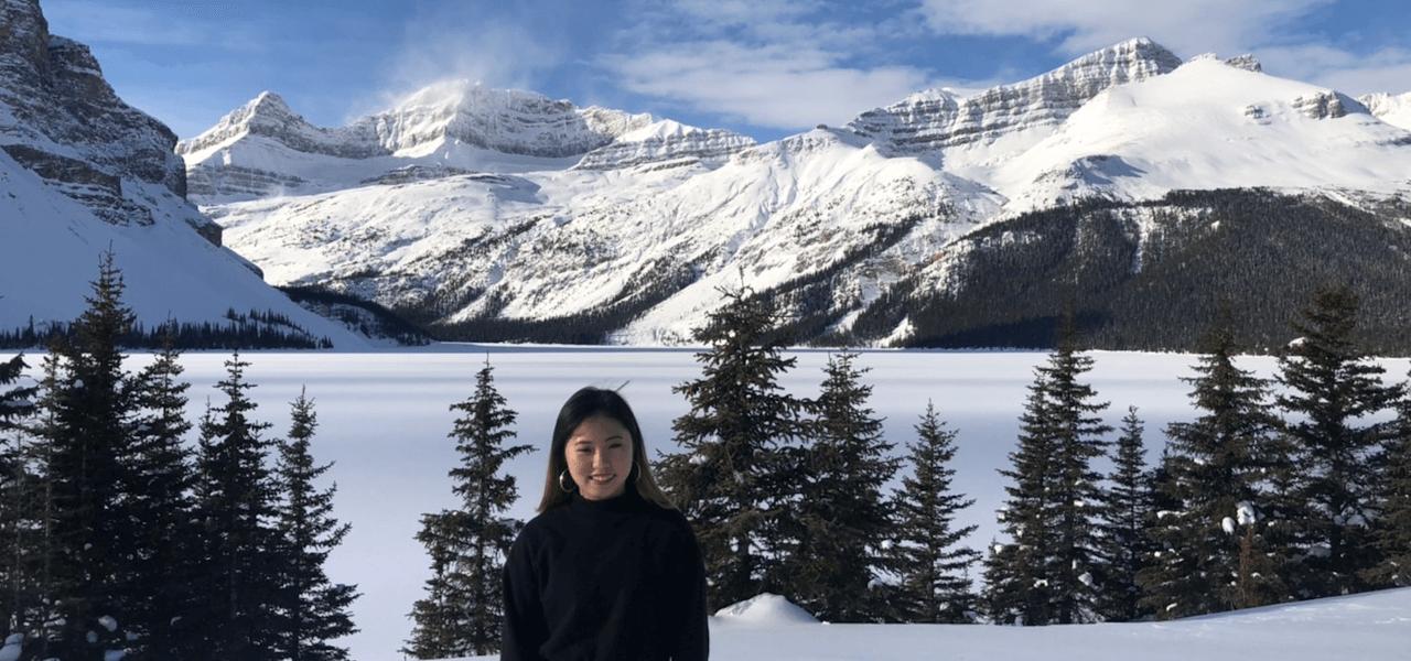 雪山バックの写真