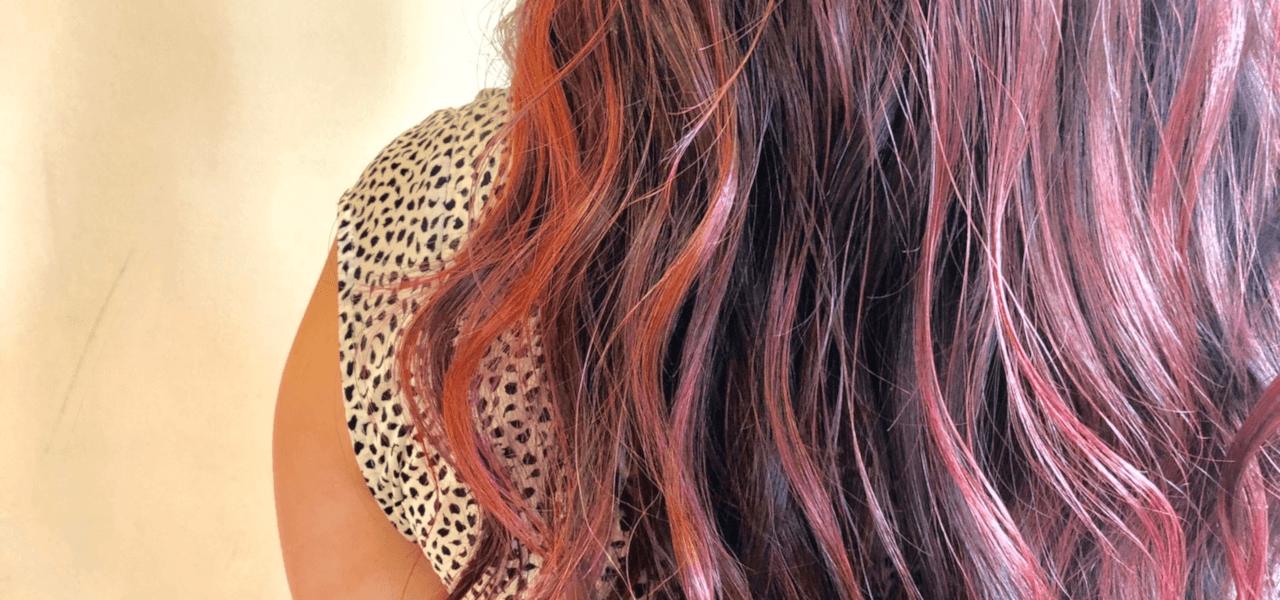 ピンクの髪の写真
