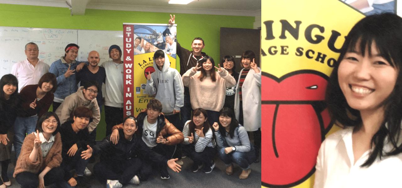 ラ・リングアの写真とTomokoさん