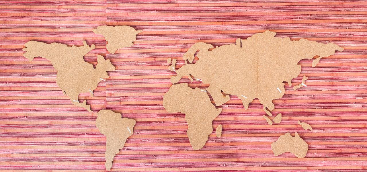 色鮮やかな世界地図