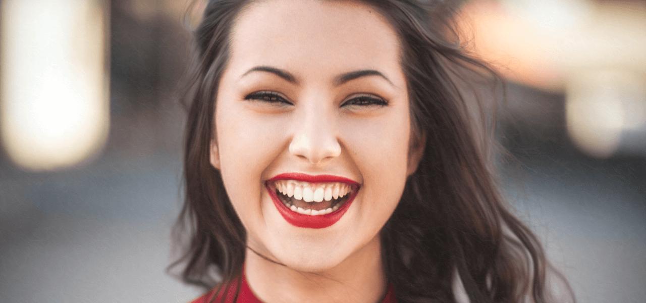 満面の笑みの留学生