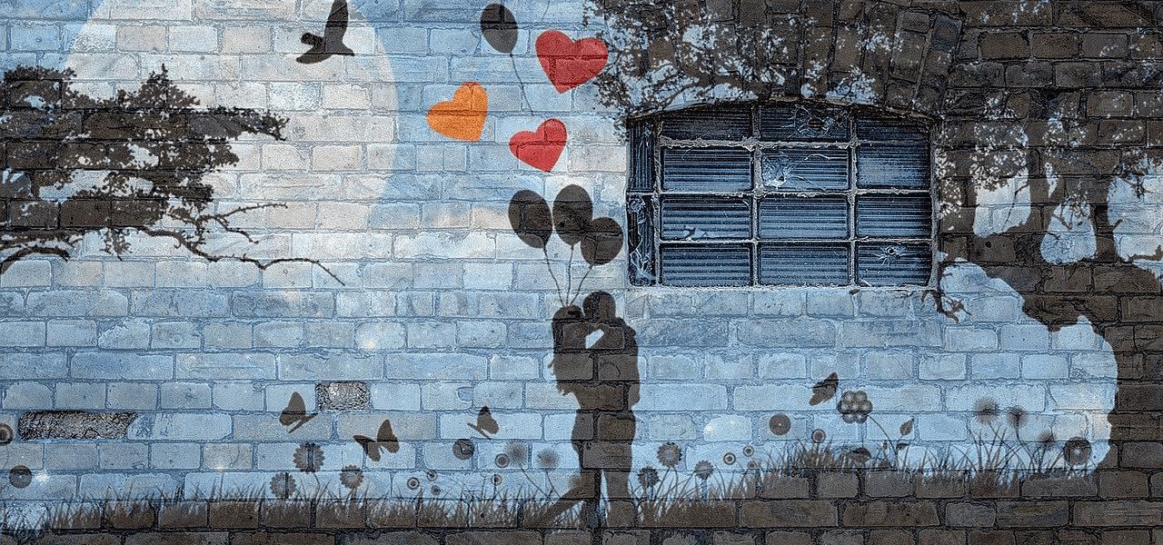 キスをしているカップル絵