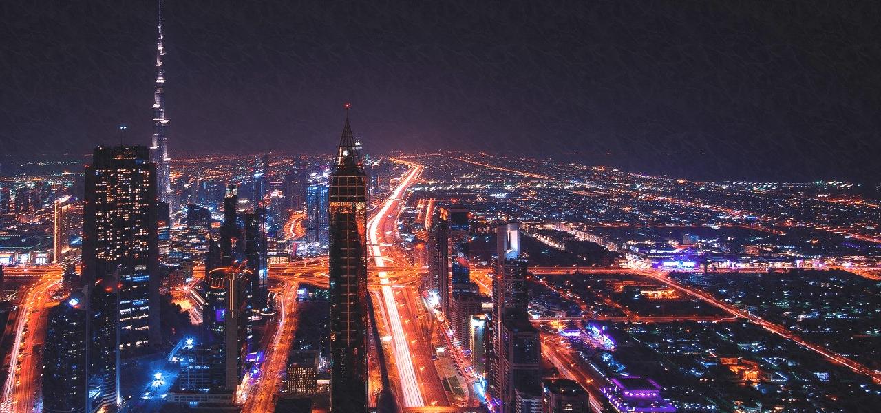 大都会の街並みの夜景