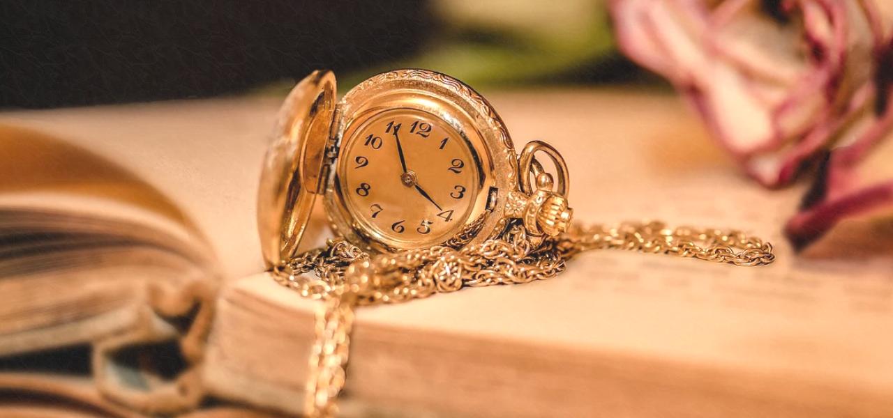 時間をイメージする時計