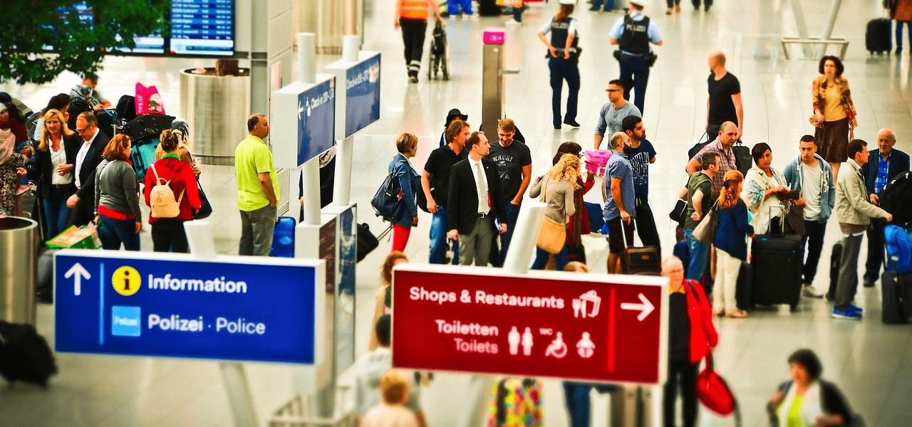 海外に渡航するための国際空港