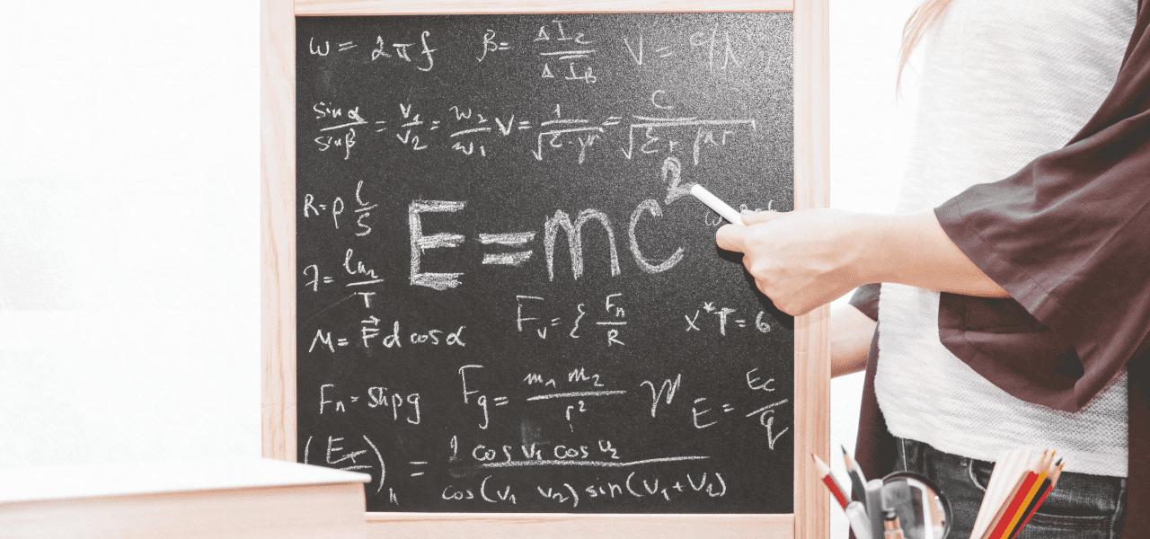 E=mcの二乗を説明する先生